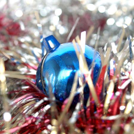 Oropeles y adornos para la decoración de árboles de Navidad Foto de archivo - 3845433