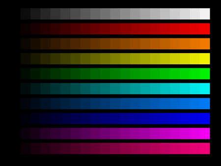 calibration: Colour bars for screen monitor calibration Stock Photo