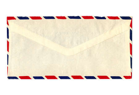 airmail: Airmail letter envelope isolated over white