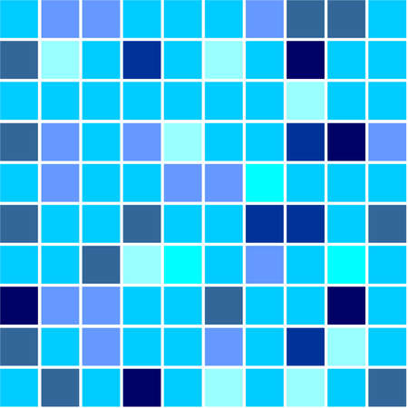 Seamless tiles background different shades of blue colour photo