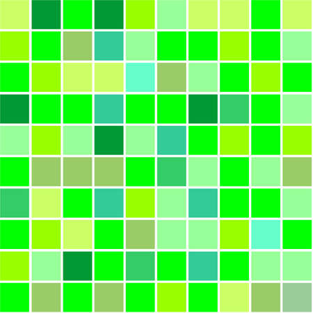 Seamless tiles background different shades of green colour photo