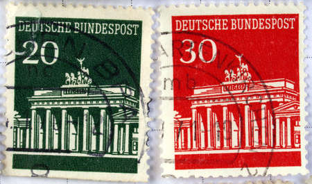 Range of German postage stamps Stock Photo - 3917880