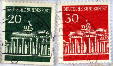 Range of German postage stamps Stock Photo - 3917880