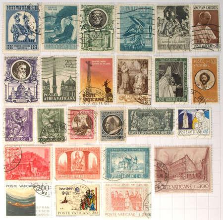 Range of Vatican city postage stamps Stock Photo - 3944390