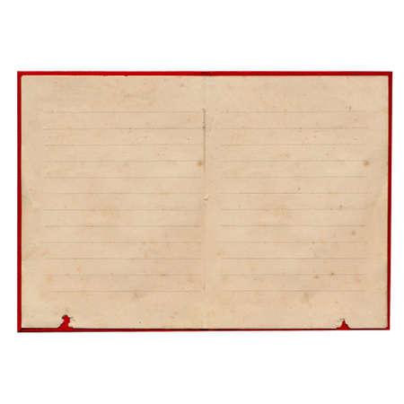 oud document: Oude torn lege documentpagina Stockfoto