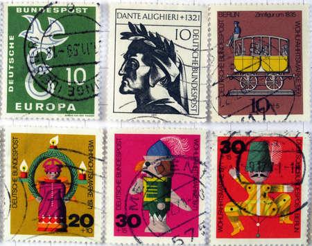 Range of German postage stamps Stock Photo - 4009857