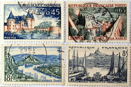 Range of French postage stamps Stock Photo - 4044497