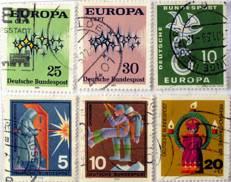 Range of German postage stamps Stock Photo - 4059397