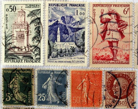 Range of French postage stamps Stock Photo - 4059401