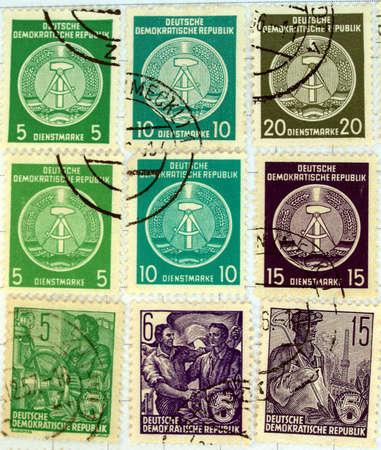 ddr: Range of German Democratic Republic (DDR) postage stamps