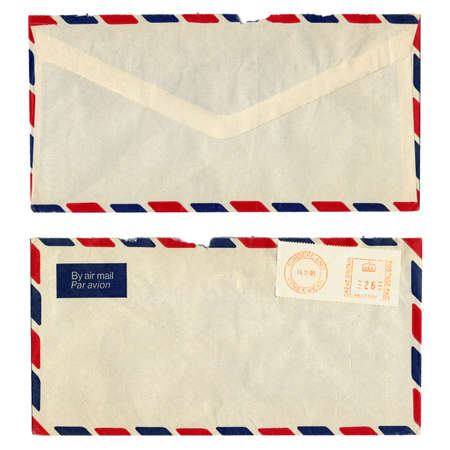 airmail: Airmail letter with UK postage meter stamp Stock Photo