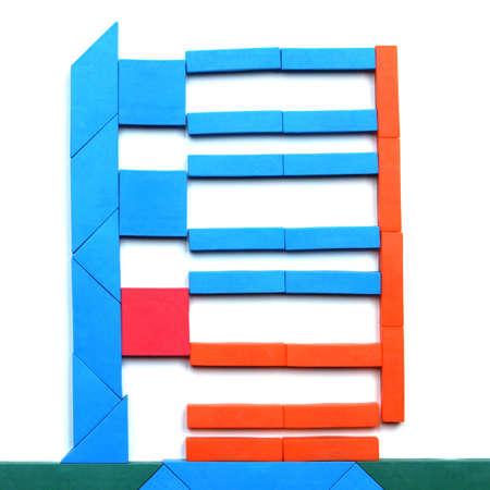 color tangram: Tangram game toy with skyscraper