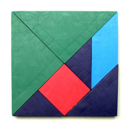 color tangram: Tangram game toy