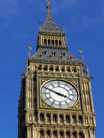Big Ben at the Houses of Parliament, Westminster Palace, London photo