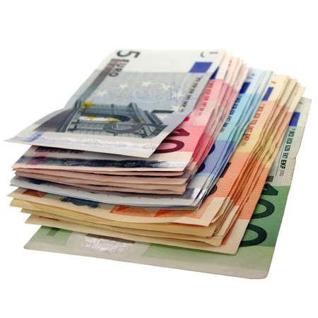 billets euro: D'euros de billets de banque l'argent (la monnaie de l'Union europ�enne) Banque d'images