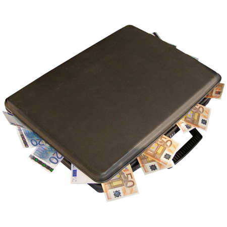 Euro banknotes money in a travel suitcase Stock Photo - 4142436