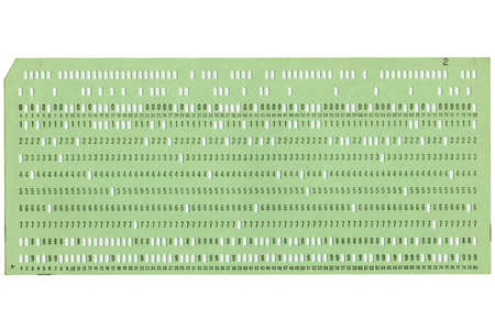 Vintage punched card for computer data storage Stock Photo - 4142488