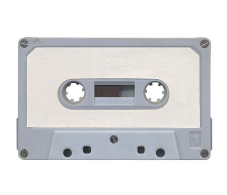 Magnetic audio tape cassette for music recording photo