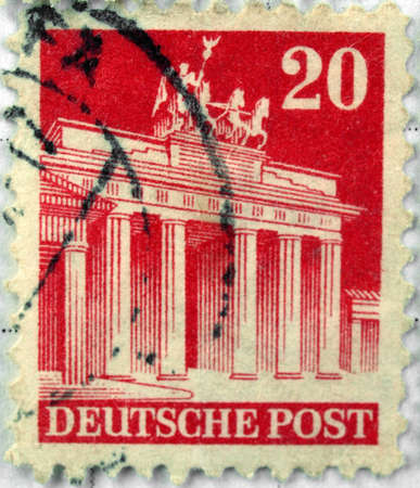 Range of German postage stamps Stock Photo - 4156001