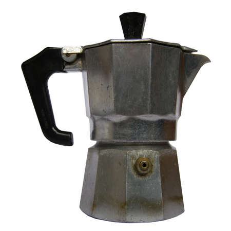 percolator: Coffee percolator isolated over a white background