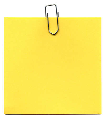 Post it memo isolated over a white background photo