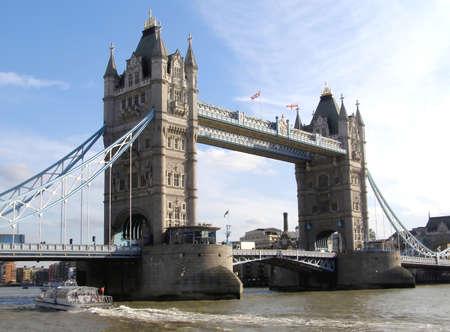 thames: Tower Bridge over river Thames in London, UK