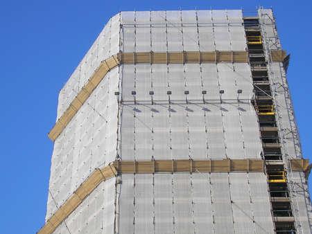 provisional: Andamio provisional temporal para la construcci�n de obras en construcci�n Foto de archivo