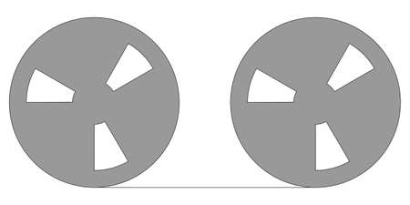 Magnetic tape reel for computer data storage