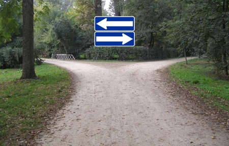 Facing a difficult decision at a crossroad Stock Photo - 4224340