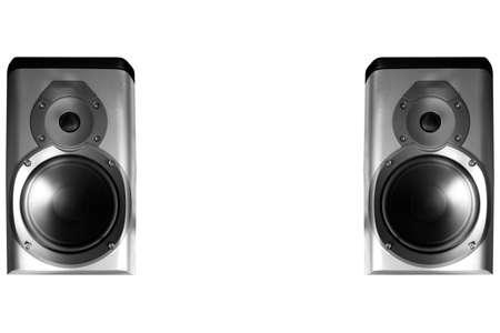 hifi: Pair of stereo hifi speakers Stock Photo