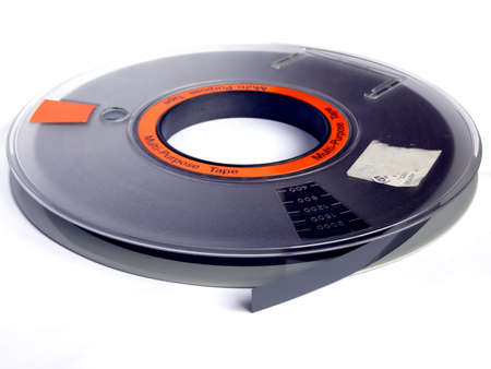 personal computers: Magnetic tape reel for computer data storage