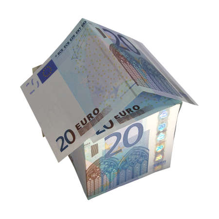 House of money made of Euro banknotes photo