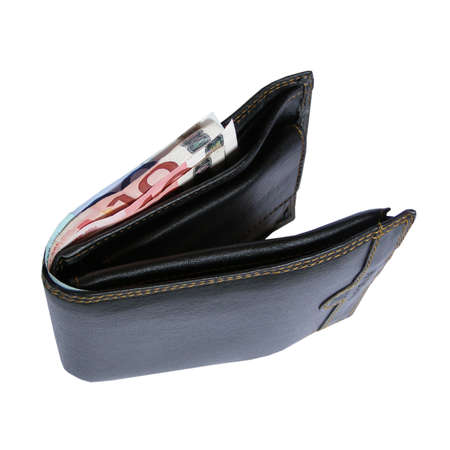 billfold: Wallet or billfold for bank notes money Stock Photo