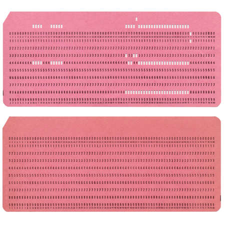 Vintage punched card for computer data storage Stock Photo - 4224746