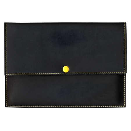 billfold: Purse bag or wallet billfold, black over white background