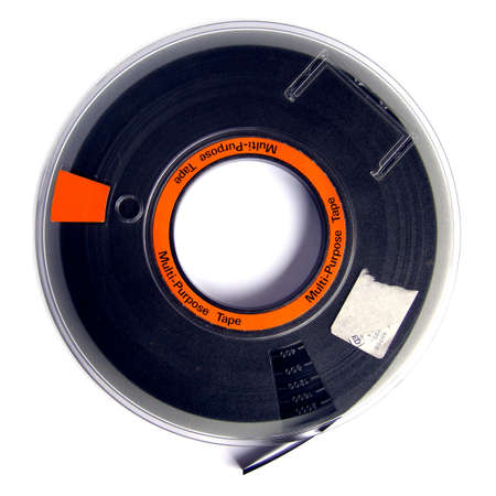 Magnetic tape reel for computer data storage Stock Photo - 4224863