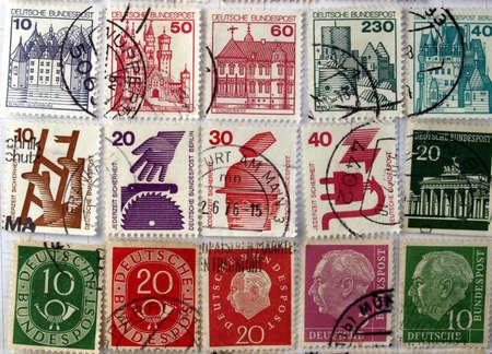 Range of German postage stamps photo