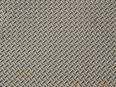 Diamond steel plate industrial iron metal background Stock Photo - 4280877