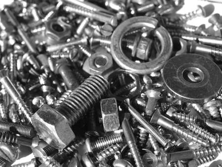 Industrial steel hardware bolts, nuts, screws Stock Photo - 4306045