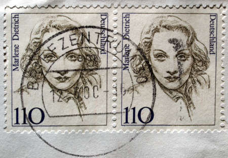 Range of German postage stamps from Germany photo