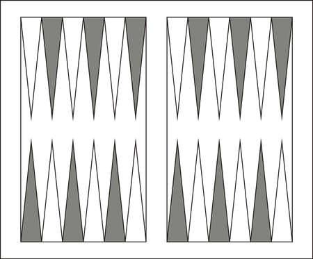 Vector illustration of a Backgammon game board