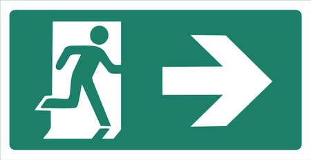 fire exit sign: Vector illustration of a fire exit sign