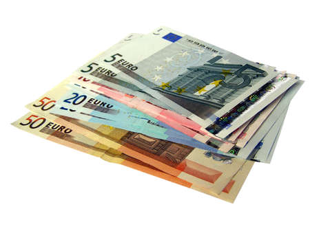 Euro bank notes money (European Union currency) Stock Photo - 4414752