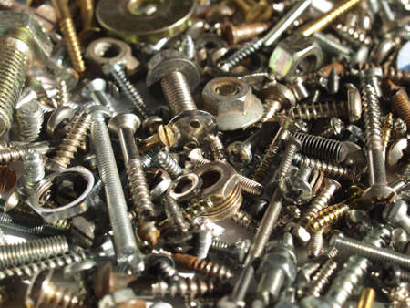 Industrial steel hardware bolts, nuts, screws Stock Photo - 4462708