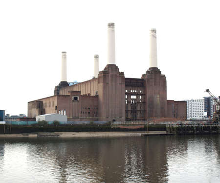 pink floyd: London Battersea powerstation, a landmark abandoned factory Stock Photo