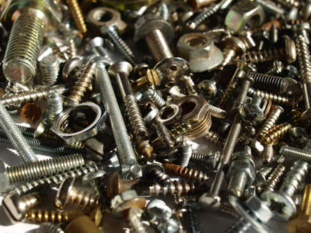 Industrial steel hardware bolts, nuts, screws Stock Photo - 4462807