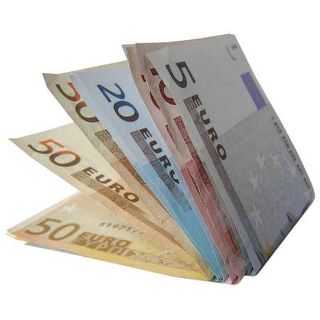european union currency: Billetes de euros de dinero (moneda Uni�n Europea) Foto de archivo