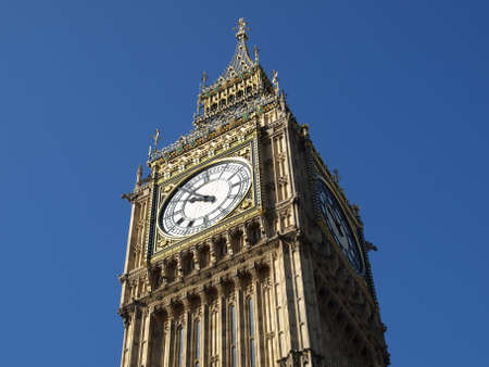 Big Ben at the Houses of Parliament, Westminster Palace, London, UK Stock Photo - 4498829