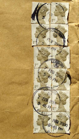 Range of British postage stamps from the UK