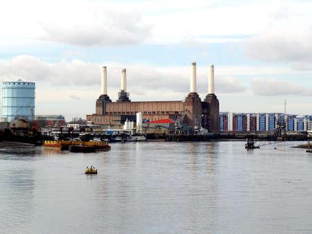 powerstation: London Battersea powerstation, a landmark abandoned factory Stock Photo